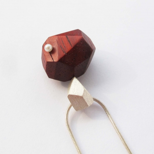 Coral Wood Necklace