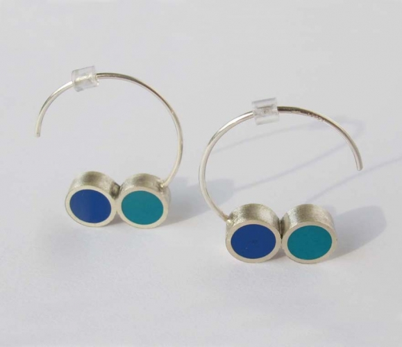 Pont.vero earrings - turquoise and blue