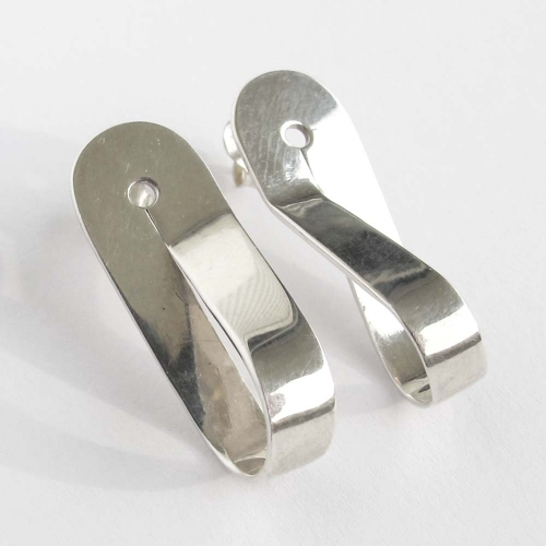Silver Infinite Classic Earrings