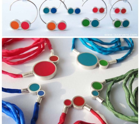 Pont.vero earrings and silk necklaces