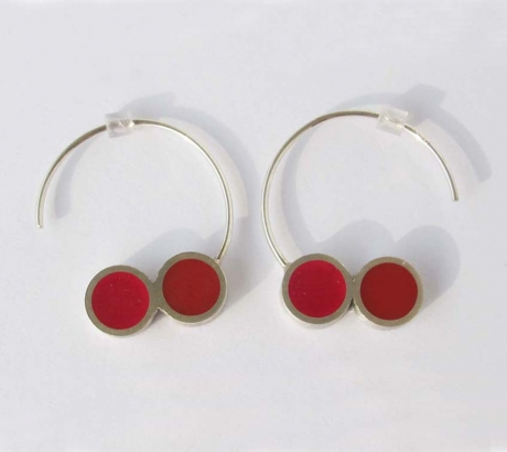 Pont.vero earrings – pink and red