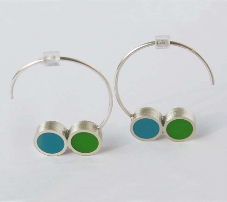 Pont.vero earrings - turquoise and green