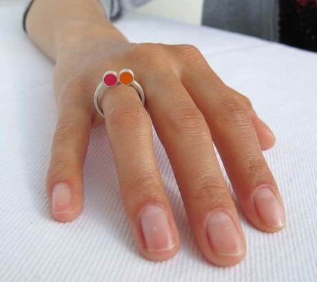 Pont.vero Ring – pink-orange