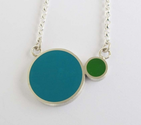 Pont.vero Silver Necklace– Turquoise – Green - Big