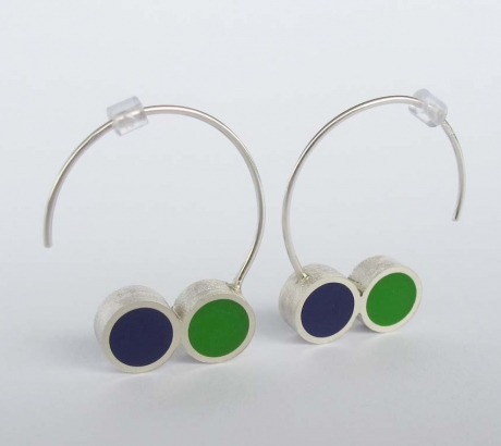 Pont.vero earrings – purple green