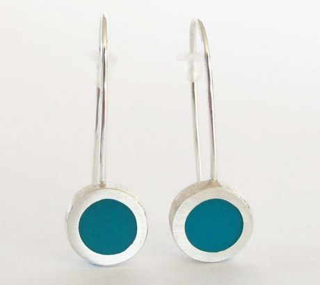 Turquoise colour Circle shape Earrings