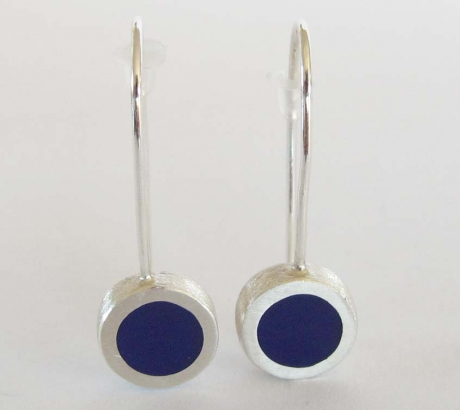 Purple Circle shape Earrings
