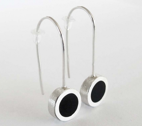Black Circle shape Earrings