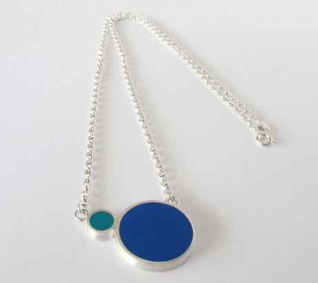 Pont.vero Silver Necklace– Blue - Turquoise – Big
