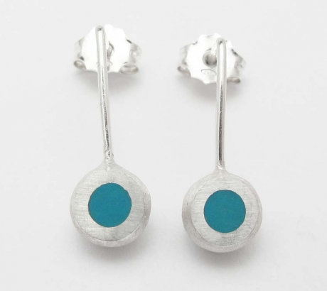 Tuquoise Mini Hemisphere Earrings