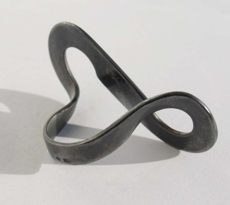 Black silver Infinite ring