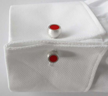 Red Hemisphere Cufflinks