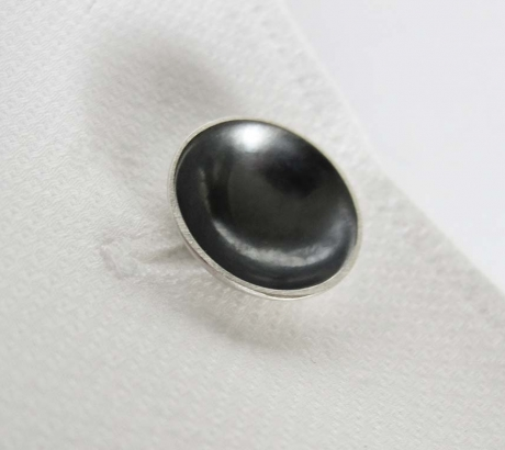 Oxidised Moon Cufflinks