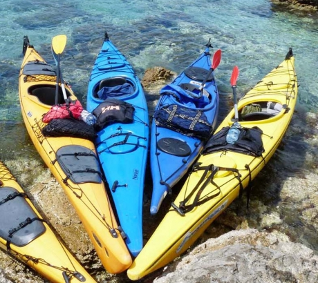 Our sea kayaks