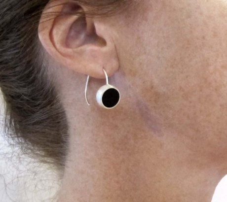 Black Hemisphere Earrings