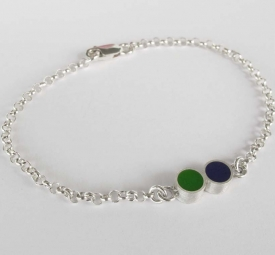 Pont.vero Silver Bracelet – Purple and Green