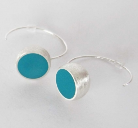 Turquoise Hemisphere Earrings