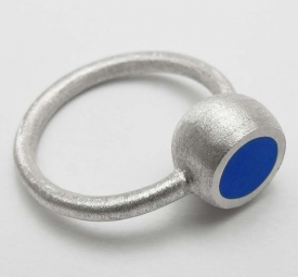 Blue Hemisphere Ring