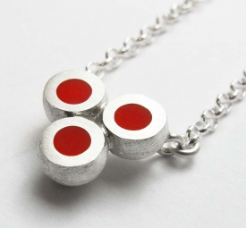 Mini Hemisphere Red Necklace