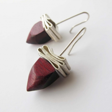 Amaranth Wood Earrings