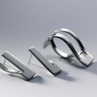 Wave ring and earrings