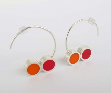 Pont.vero Earrings – pink - orange