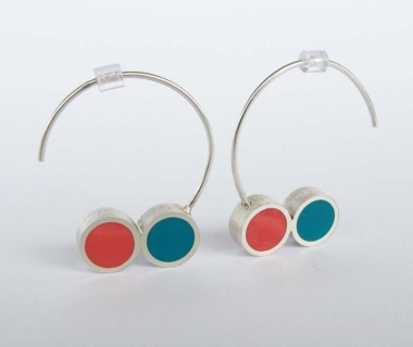 Pont.vero earrings – turquoise and salmon