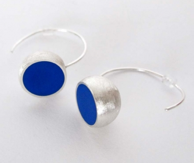 Blue Hemisphere Earrings