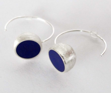 Purple Hemisphere Earrings