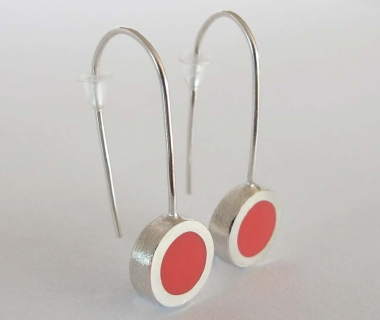 Salmon colour Circle shape Earrings