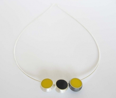 3 Hemisphere Yellow and Black Necklace