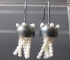 Jellyfish Silver Earrings with pearls